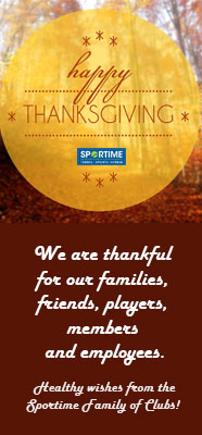 Happy Thanksgiving from SPORTIME
